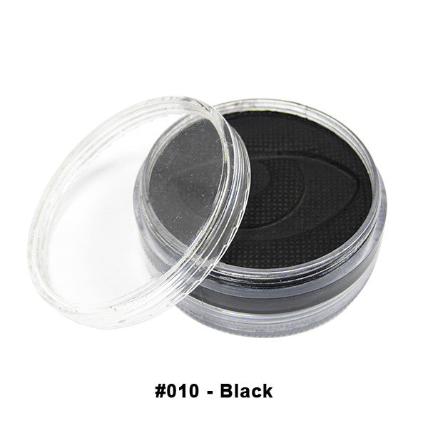 Wolfe FX Hydrocolor Cake - Essential Colors - Black #010 / Medium 45g/1.5oz | Camera Ready Cosmetics - 2