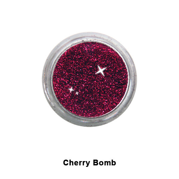 Eye Kandy Glitter Sprinkles - Cherry Bomb (Super Fine) | Camera Ready Cosmetics - 14