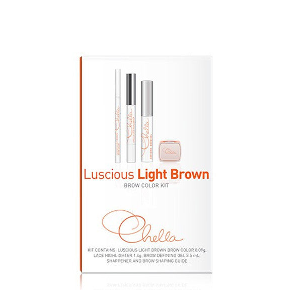Chella Eyebrow Color Kit - Luscious Light Brown | Camera Ready Cosmetics - 5