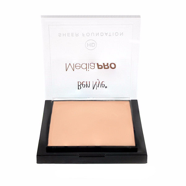 Ben Nye MediaPRO HD Sheer Foundation - Bare Peach (HD-814) | Camera Ready Cosmetics - 10