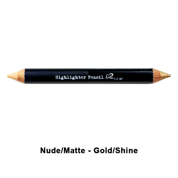 The BrowGal Highlighter Pencil - 02 Nude/Matte - Gold/Shine | Camera Ready Cosmetics - 3