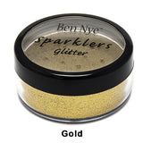 Ben Nye Sparklers Loose Glitter - Gold / Large .5oz/14gm | Camera Ready Cosmetics - 25