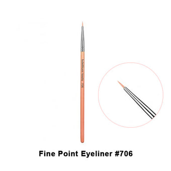 alt Bdellium Tools Pink Bambu Brushes for Eyes 706 Fine Point Eyeliner (Pink)