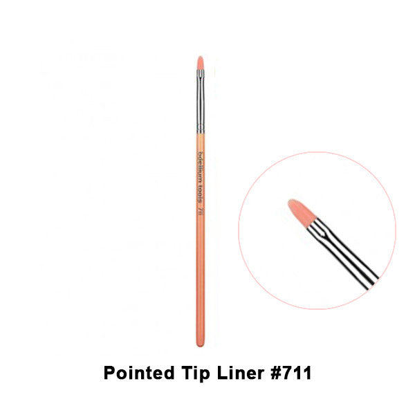 Bdellium Tools Pink Bambu Brushes for Eyes - 711 Pointed Tip Liner | Camera Ready Cosmetics - 5