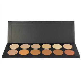 Graftobian 12-Color Dual Finish Foundation Powder Palette -  | Camera Ready Cosmetics - 1