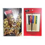 Graftobian Disguise Stix Face Painting Starter Set with Book -   - 1