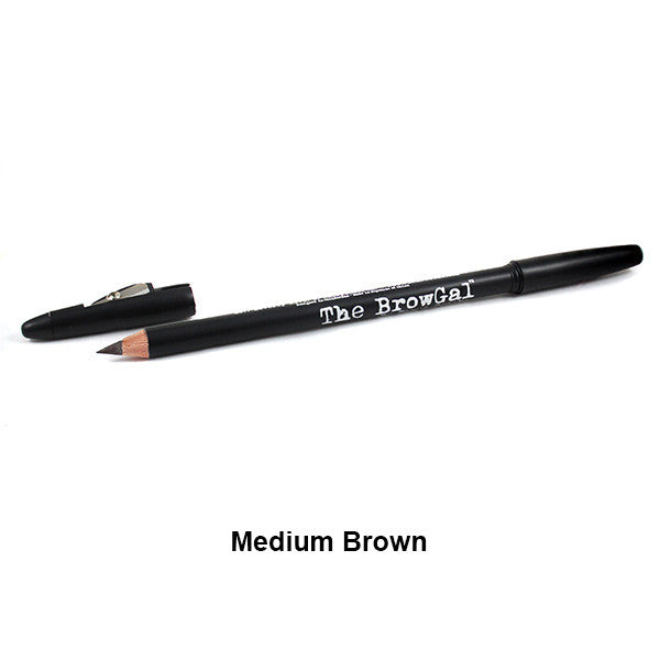 The BrowGal Skinny Eyebrow Pencil - Medium Brown 04 | Camera Ready Cosmetics - 8