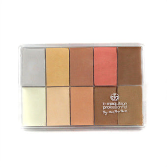 Maqpro Fard Creme Palette PP01 - 0.5oz./15ml. Slim Sample | Camera Ready Cosmetics - 2