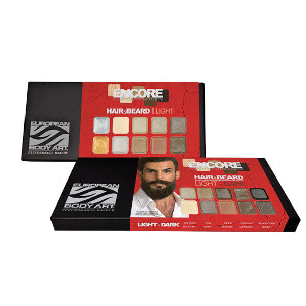 European Body Art - Encore Hair & Beard PALETTES -  | Camera Ready Cosmetics - 1