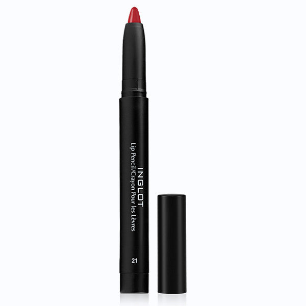 Inglot AMC Lip Pencil Matte with Sharpener - 21 AMC | Camera Ready Cosmetics - 10