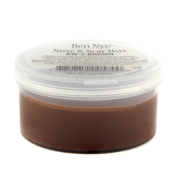 Ben Nye Nose & Scar Wax - Brown 2oz (BW-2) | Camera Ready Cosmetics - 4