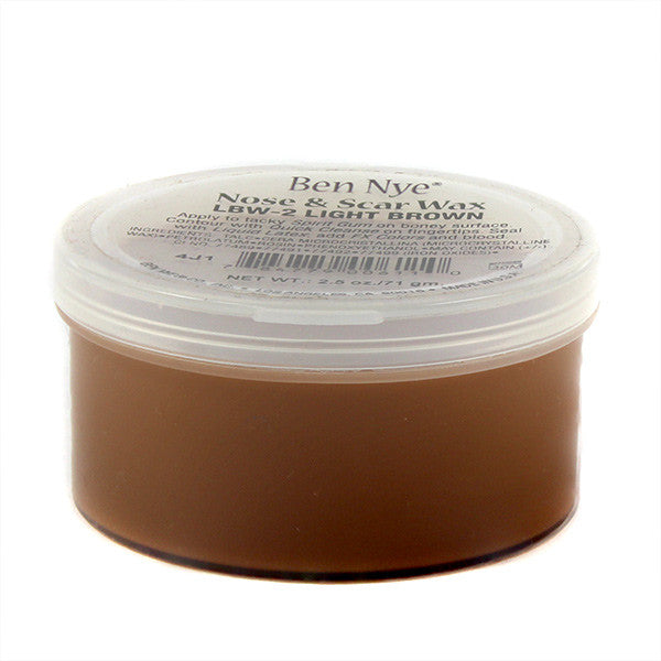 Ben Nye Nose & Scar Wax - Light Brown 2.5oz (LBW-2) | Camera Ready Cosmetics - 12