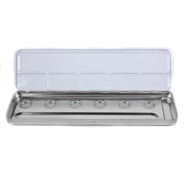 Ben Nye REFILLABLE Metal Palette Box - 6-well Magnetic Palette (BXE-6) | Camera Ready Cosmetics - 2