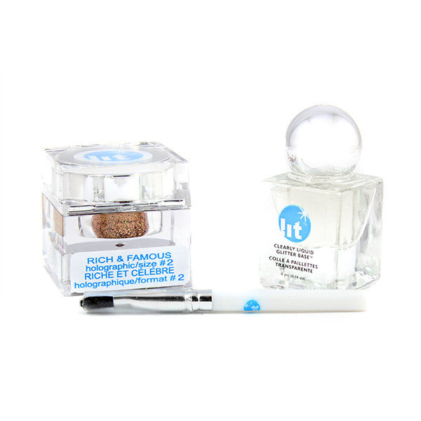 Lit Cosmetics Mini Me Lit Kit - Rich and Famous | Camera Ready Cosmetics - 7