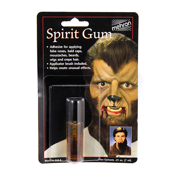 Mehron Spirit Gum Liquid Adhesive (USA Only) - 0.125oz. w/brush (118AC) | Camera Ready Cosmetics - 2