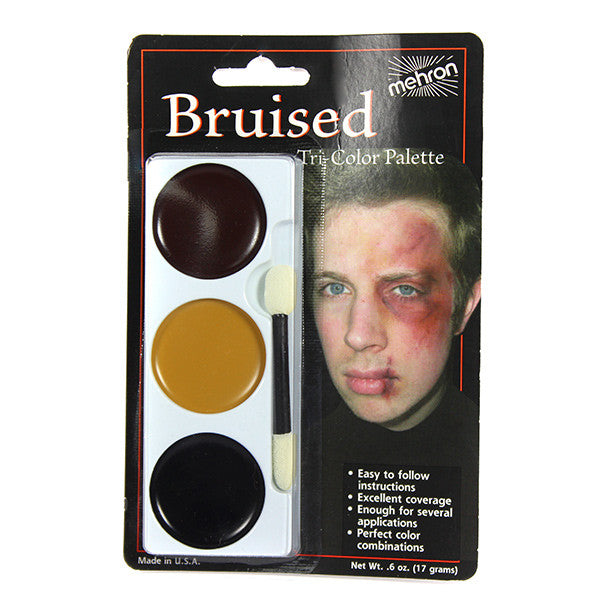 Mehron Tri-Color Palette - Bruise (403C-B) | Camera Ready Cosmetics - 2