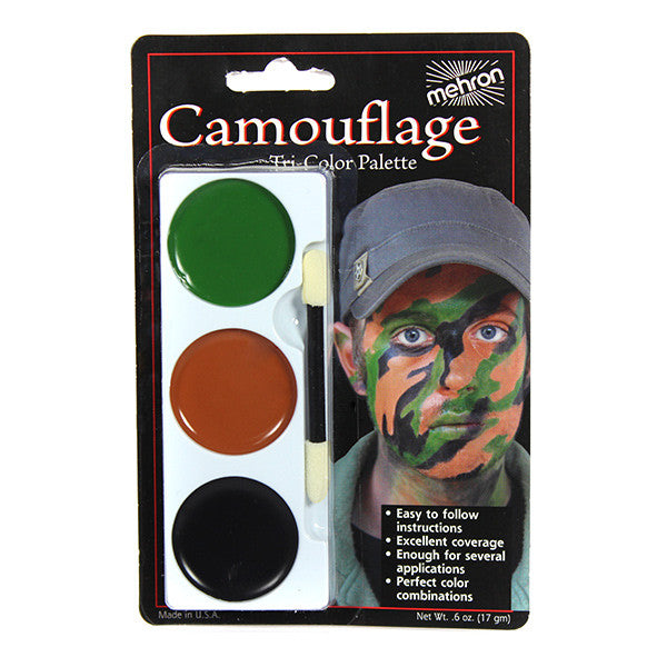 Mehron Tri-Color Palette - Camouflage (403C-CA) | Camera Ready Cosmetics - 4