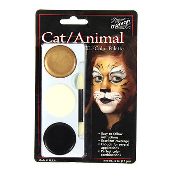 alt Mehron Tri-Color Palette Cat/Animal (403C-T)