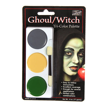 alt Mehron Tri-Color Palette Ghoul/Witch (403C-G)