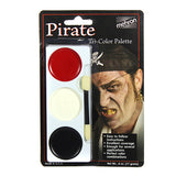 Mehron Tri-Color Palette - Pirate (403C-P) | Camera Ready Cosmetics - 10