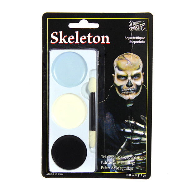 Mehron Tri-Color Palette - Skeleton (403C-S) | Camera Ready Cosmetics - 11
