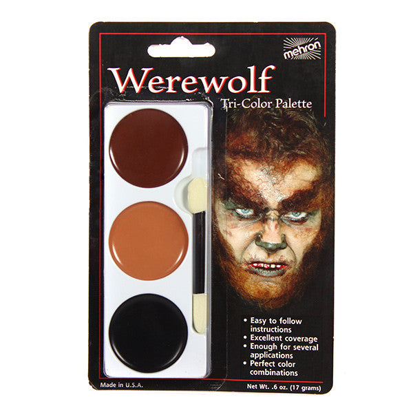 Mehron Tri-Color Palette - Werewolf (403C-WW) | Camera Ready Cosmetics - 13