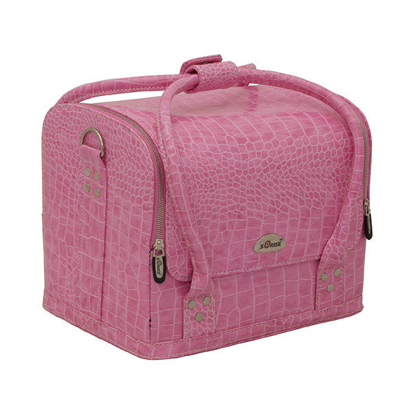 JUST CASE - ROLL TOP MAKEUP CASE C3025 (USA ONLY) - Croc. Pink (C3025CRPK) | Camera Ready Cosmetics - 4