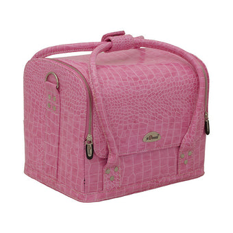 alt Just Case - Roll Top Makeup Case C3025 Croc. Pink (C3025CRPK)
