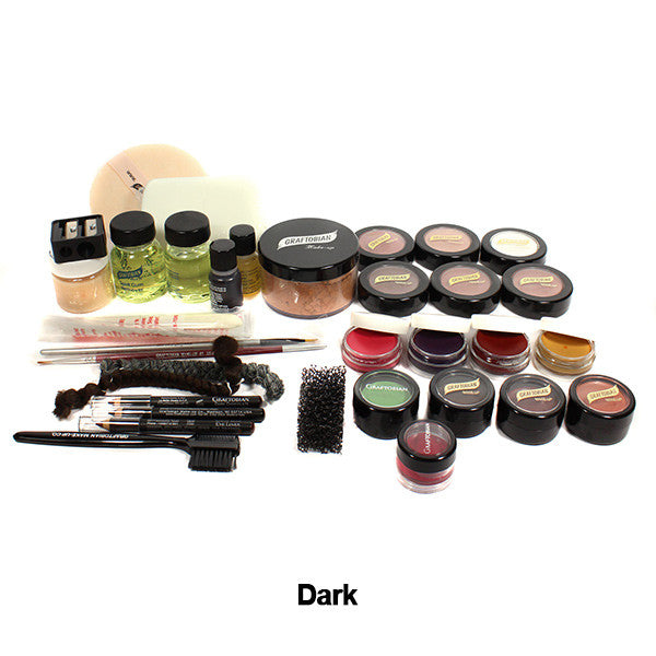 Graftobian Student Theatrical Kit (USA Only) - Dark/Ebony Deluxe Kit (88815) | Camera Ready Cosmetics - 3