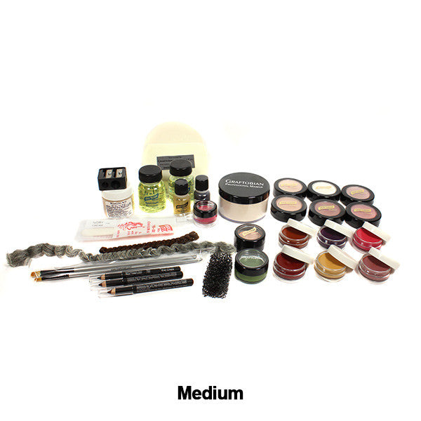 Graftobian Student Theatrical Kit (USA Only) - Medium/Olive Deluxe Kit (88813) | Camera Ready Cosmetics - 7