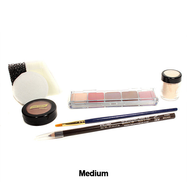 Graftobian Student Theatrical Kit (USA Only) - Medium/Olive Boxed Kit (88802) | Camera Ready Cosmetics - 6