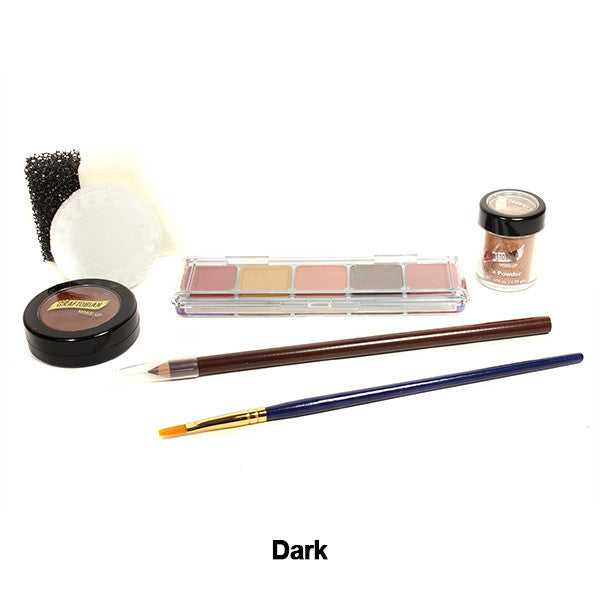 Graftobian Student Theatrical Kit (USA Only) - Dark/Ebony Boxed Kit (88803) | Camera Ready Cosmetics - 2