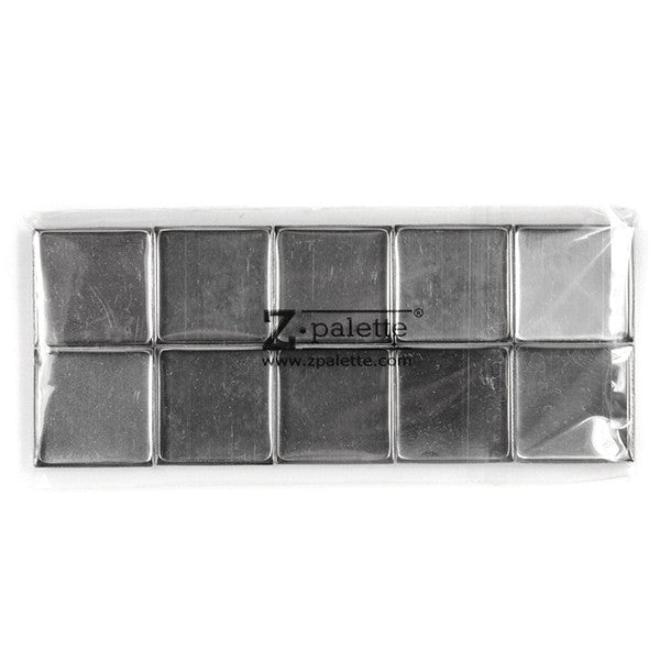 Z Palette Square Empty Metal Pans - 10 Pack | Camera Ready Cosmetics - 2