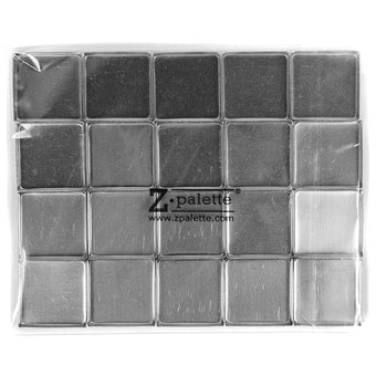 Z Palette Square Empty Metal Pans - 20 Pack | Camera Ready Cosmetics - 4