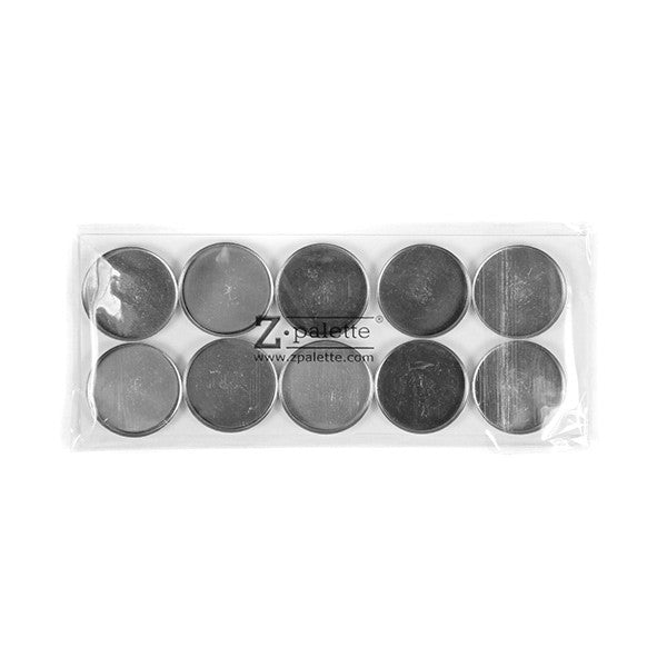 Z Palette Round Empty Metal Pans - 10 Pack | Camera Ready Cosmetics - 2