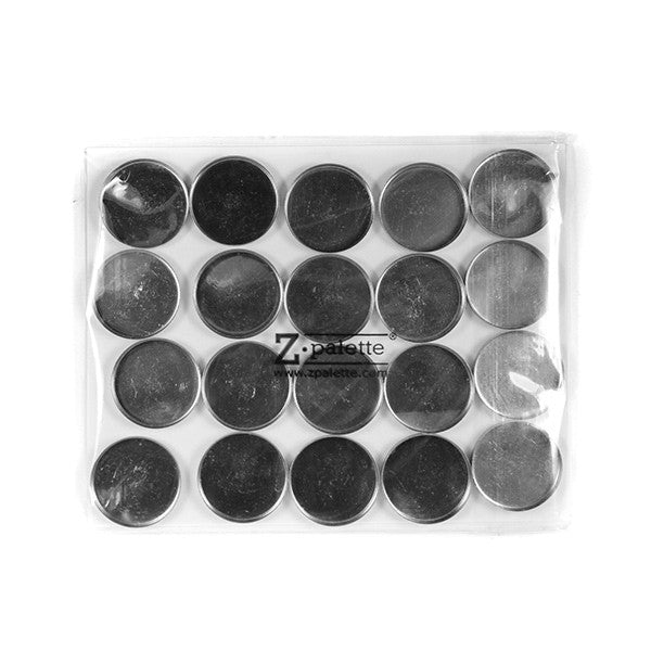 Z Palette Round Empty Metal Pans - 20 Pack | Camera Ready Cosmetics - 4