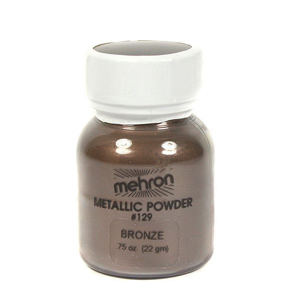 Mehron Metallic Powder - Bronze 0.75oz (129C-BZ) | Camera Ready Cosmetics - 2