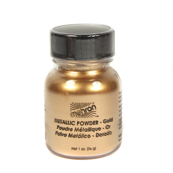Mehron Metallic Powder - Gold 1.0oz (129C-GD) | Camera Ready Cosmetics - 6