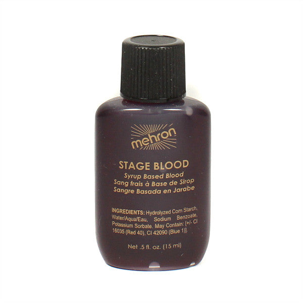 Mehron Stage Blood (USA only) - .5oz Squeeze bottle / Bright Arterial | Camera Ready Cosmetics - 2