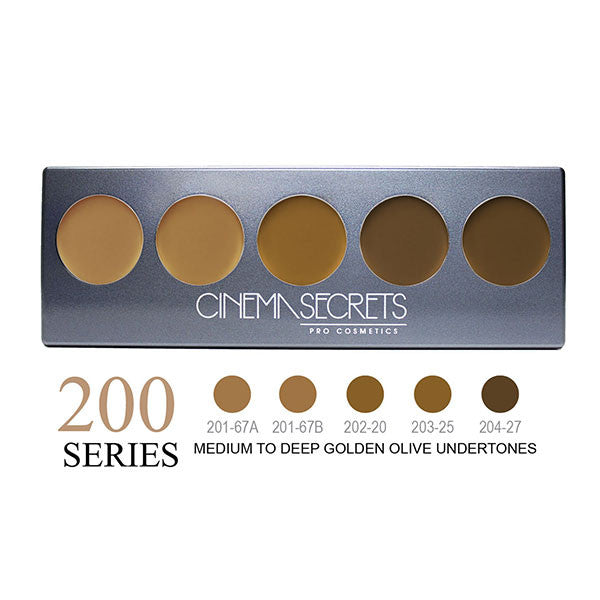 Cinema Secrets Ultimate Foundation 5-IN-1 PRO Palettes - 200 Series | Camera Ready Cosmetics - 3