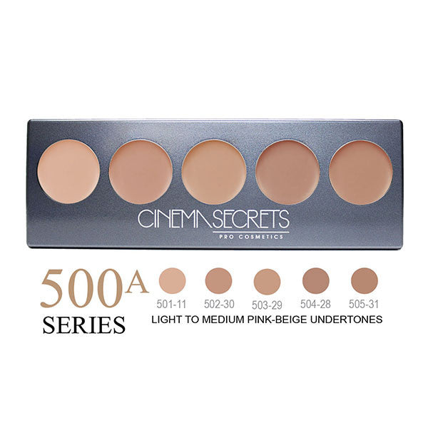 Cinema Secrets Ultimate Foundation 5-IN-1 PRO Palettes - 500A Series | Camera Ready Cosmetics - 6