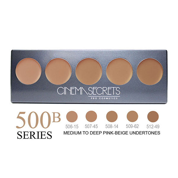Cinema Secrets Ultimate Foundation 5-IN-1 PRO Palettes - 500B Series | Camera Ready Cosmetics - 7