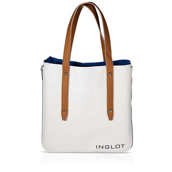 Inglot Shopping Bag - White & Blue | Camera Ready Cosmetics - 2