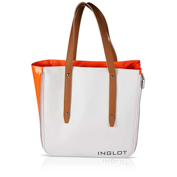 Inglot Shopping Bag - White & Orange (OOS) | Camera Ready Cosmetics - 4