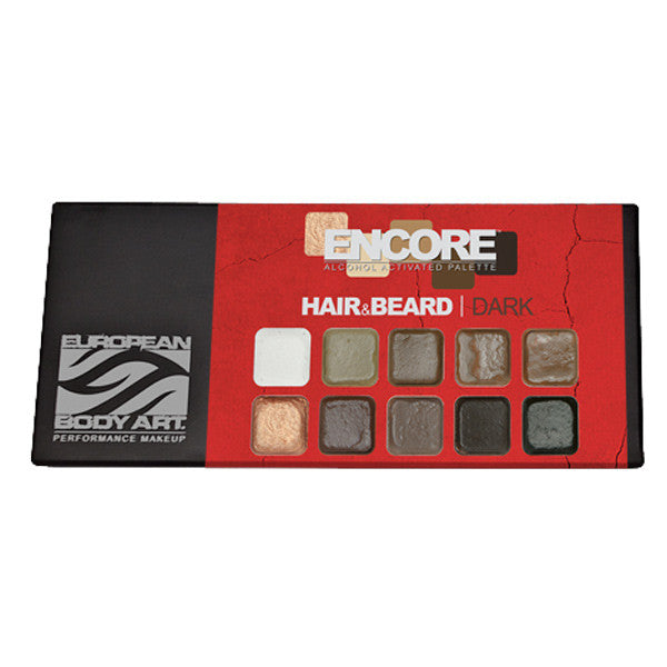 European Body Art - Encore Hair & Beard PALETTES - Dark | Camera Ready Cosmetics - 3