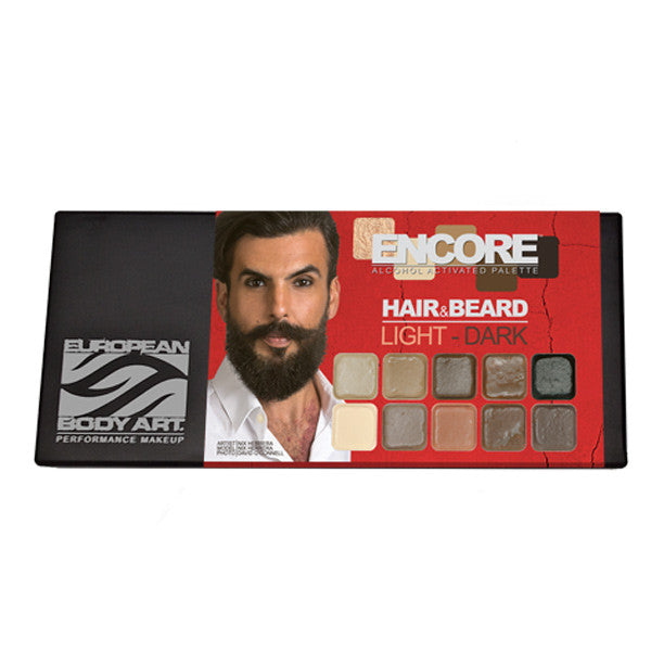 European Body Art - Encore Hair & Beard PALETTES - Light to Dark | Camera Ready Cosmetics - 4