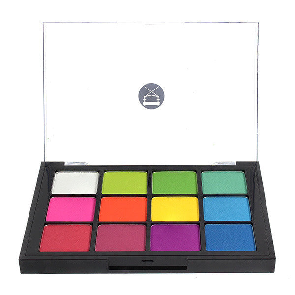 Viseart 12-Color Eyeshadow Palette - 08 Editorial Brights Matte -  | Camera Ready Cosmetics