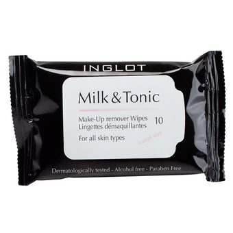 Inglot Milk & Tonic Makeup Remover Wipes - Travel Size | Camera Ready Cosmetics - 3