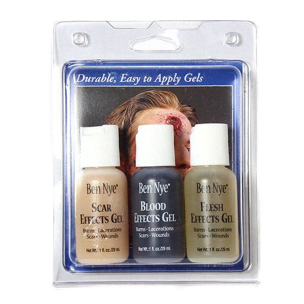 ALT - Ben Nye Effects Gel Wound Kit (Set of 3) - Camera Ready Cosmetics