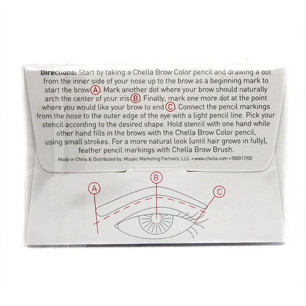 Chella Beautiful Eyebrow Stencil -  | Camera Ready Cosmetics - 2